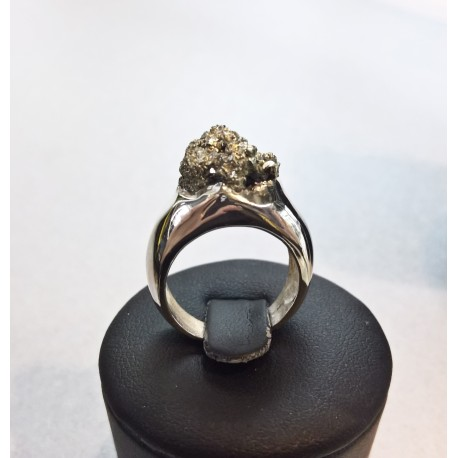 Pierścionek kolekcja Naturals - kamień Piryt